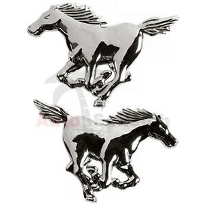 Mustang Emblem Zeichen Chrom Schriftzug Aufkleber 3D Logo Ford Pferd Pony Horse