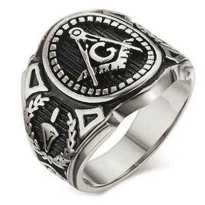 (Masonic rings ebay Silver Color Freemason Ring - stainless steel pin stripes)