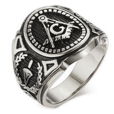 (Masonic rings ebay Silver Color Freemason Ring - stainless steel pin stripes)