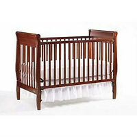 Graco Sarah Convertible Crib - Cherry By: Graco, with mattress