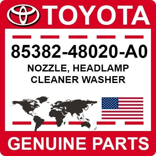 85382-48020-a0 Toyota Oem Genuine Nozzle, Headlamp Cleaner Washer