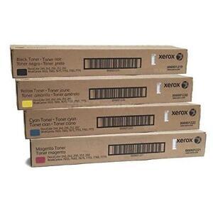Xerox 006R01219 006R01220 006R01221 006R01222 Original Black Toner Cartridges (1 Set of 4)
