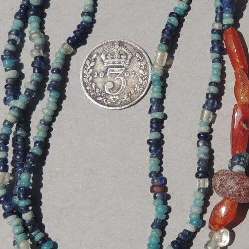 29.5 inch 75 cm strand ancient djenne glass beads mali #168
