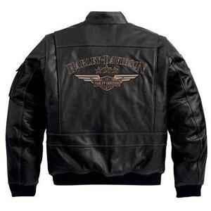 harley davidson lederjacke herrenbekleidung ebay. Black Bedroom Furniture Sets. Home Design Ideas