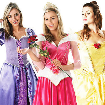 Disney Princess Dress For Adults (Disney Princess Ladies Fancy Dress Fairytale Book Week Womens Adults)