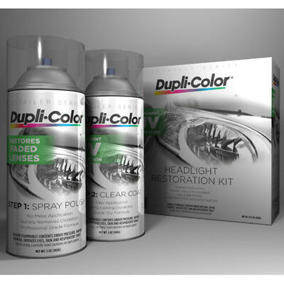 Dupli-Color HLR100 Headlight Restore Restoration and UV Coating Spray Kit