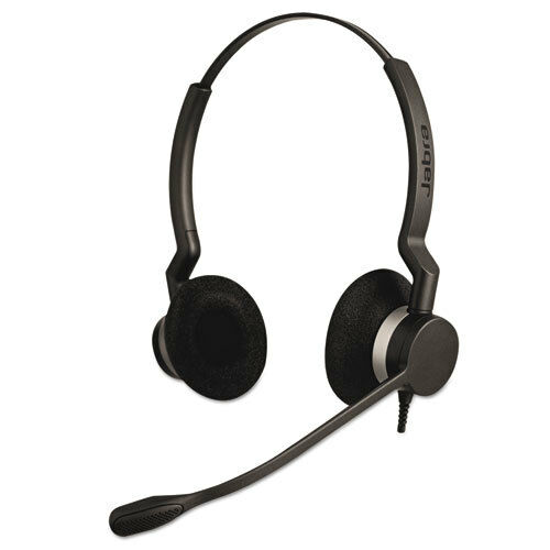 QD Binaural Over-the-Head Corded Headset by Jabra - NEW