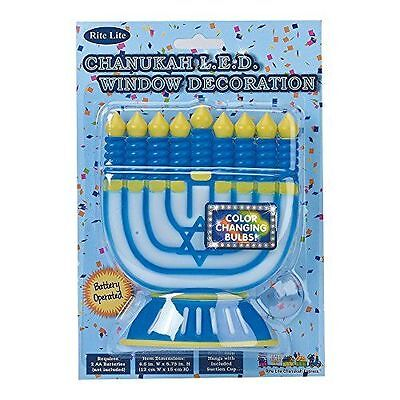 RITE LITE CHANUKAH LED WINDOW DECORATION BATTERY OPERATED COLOR CHANGING - Chanukah Decor