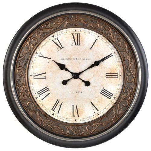 Large roman numeral wall clock ebay - Large roman numeral wall clocks ...