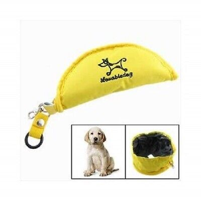 Pet Fold Collapsible Fabric Bowl Dog Cat Water Food Dish Portable Travel Feeding