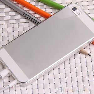Conjoined Anti-Dust Plug Cap TPU Rubber Crystal Case Cover For iPhone 5S 5 BA4A