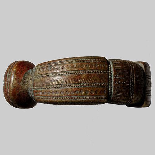 an old antique ornate copper alloy bronze bracelet mali #192