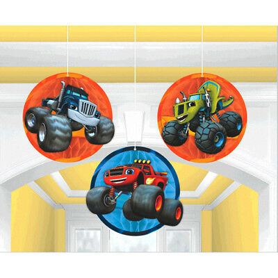 BLAZE and the MONSTER MACHINES HONEYCOMB DECORATIONS (3) ~ Birthday - Honeycomb Monster