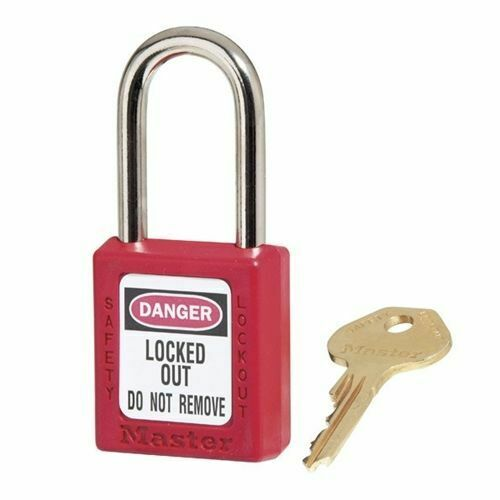 MasterLock 410 Thermoplastic Safety Padlock Lockout (BOX OF 6) | AUTH. DEALER