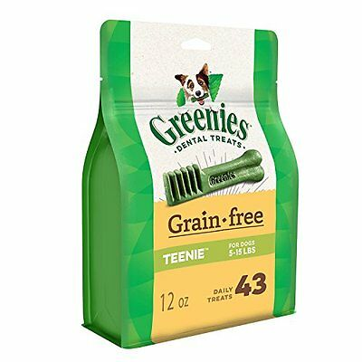 Greenies Grain Free Dental Dog Treats, Teenie, 43 Treats, 12 Oz.