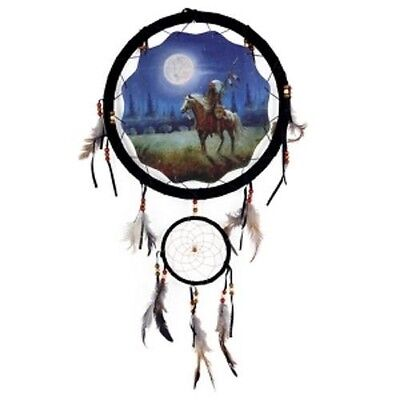 """Large 13"""" Hoop Indian Brave Dream Catcher Native American Style-Decor Wall Art"""