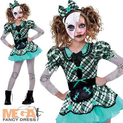 Dark Broken Doll Girls Costume Kids Halloween Horror Voodoo Costume Child - Voodoo Child Kostüm