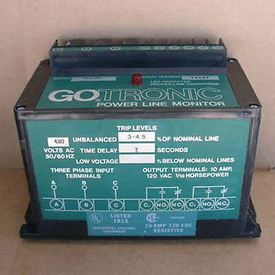 New Gotronic 585109 Power Line Monitor 480v