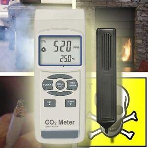 KOHLENDIOXID MESSGERÄT CO2 DETEKTOR ABGAS  CO6