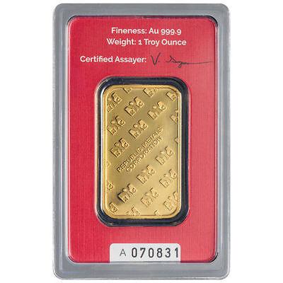 Купить 1 oz RMC Gold Bar (New w/ Assay)