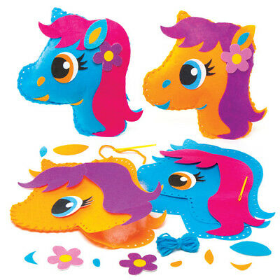 2 Pony Cushion Sewing Kits for Children to Make. Creative Summer Kids Craft Set