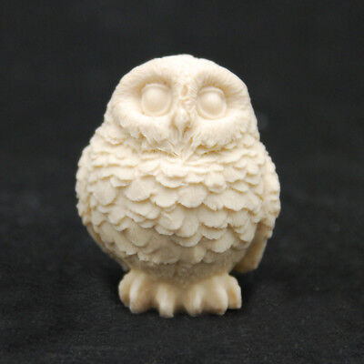 Owl L #3, Silicone Mold Chocolate Polymer Clay Jewelry Soap Melting Wax Resin