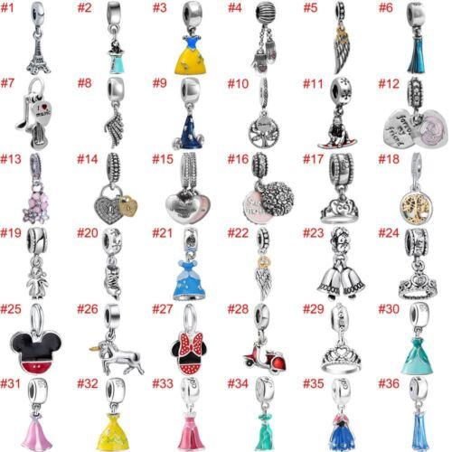 european charms silver beads pendant cz fit