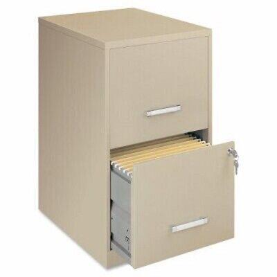 Lorell Steel 2-drawer File Cabinet 14-14w X 24-12h Putty Llr14340