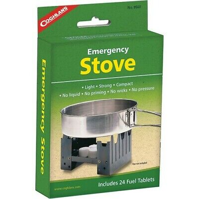 Coghlan's 9560 Survival Camping Emergency Stove + 24 Fuel Packets