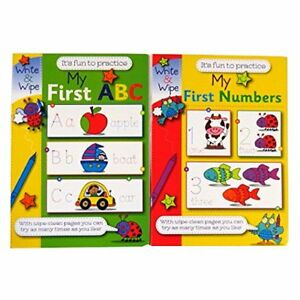EASY LEARNING CHILDREN'S MY FIRST NUMBERS ABC WRITE AND WIPE PRACTICE BOOKS