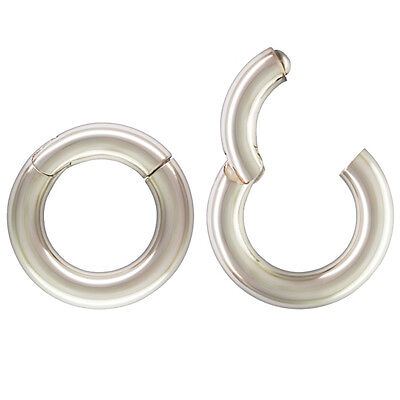 Sterling Silver Circle Clasp, Large 17mm Clasp, Openable & Locking Clasp, Charms (Large Sterling Silver Clasp)