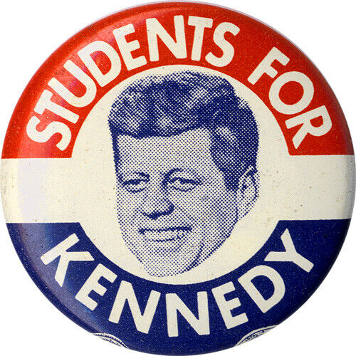 Classic 1960 STUDENTS FOR John F. KENNEDY Campaign Button (1007)