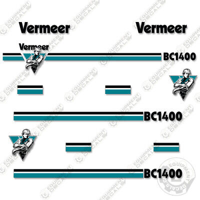 Vermeer Bc1400 Decal Kit Chipper Replacement Stickers