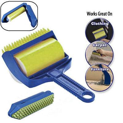 Reusable Sticky Picker Cleaner Lint Roller Pet Hair Remover Brush Tool