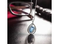 PAULINE & MORGEN Moonlight Necklace for Women made with Crystals from SWAROVSKI Nickel , 45+5cm