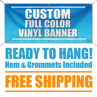 3x 6 Full Color Custom Banner High Quality 13oz Vinyl - Free Shipping