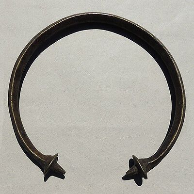 an old lost wax cast copper alloy african  neck torque ring yoruba nigeria