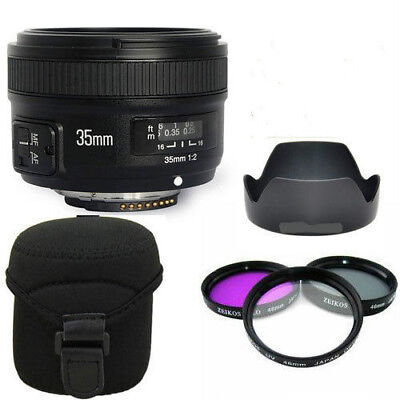Yongnuo EF 35mm F2 N Wide Angle Fixed Prime Auto Focus Lens Nikon YN35mm PRO KIT
