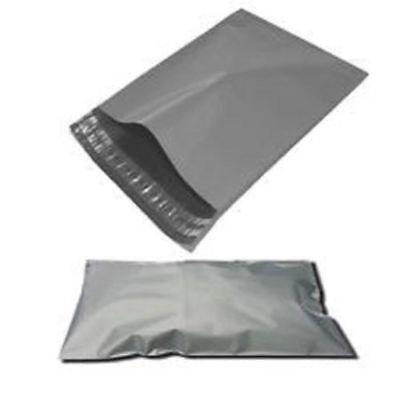 50 x GREY Postal Mailing Bags 250 x 350 mm - 10 x 14