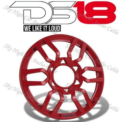 DS18 PRO Universal 8 Inch Plastic Speaker Grill Cover Red Set of 2