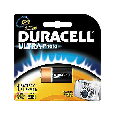 1 Duracell 123 Ultra Photo Batteries Lithium Cr123 3V Exp 2021  New Sealed