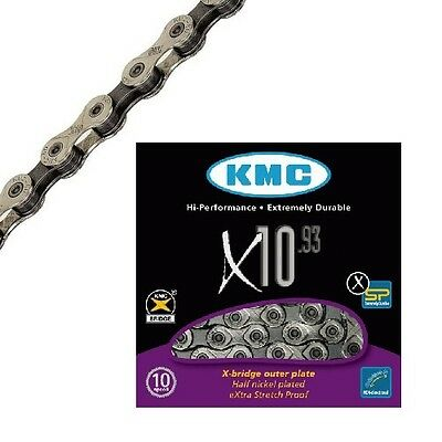 KMC X-10-93 Fahrrad Kette 10-fach 1/2 x 11/128 114 Glieder Fahrradkette