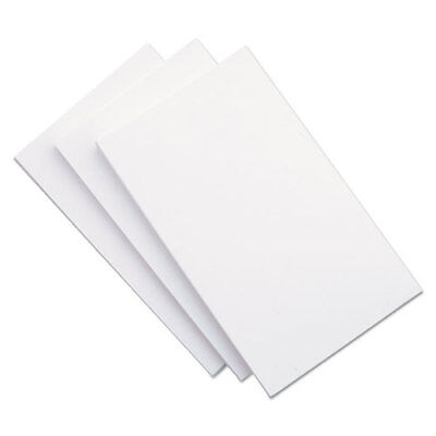 5x8 Blank Unruled White Index Cards 5 Packs Of 100 500 New Factory Sealed..