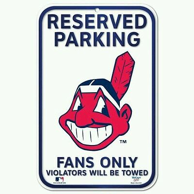 baf1ec4600a CLEVELAND INDIANS CHIEF WAHOO RESERVED PARKING FANS ONLY 11