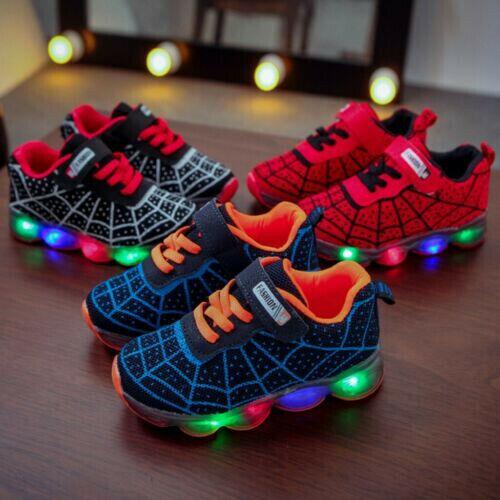 Unisex Trainers LED Luminous Light Up Shoes USB Charging Flashing Shoes New