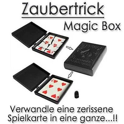 Zaubertrick magische Box Kartentrick Zauberer zaubern Magie Spielkarten Trick