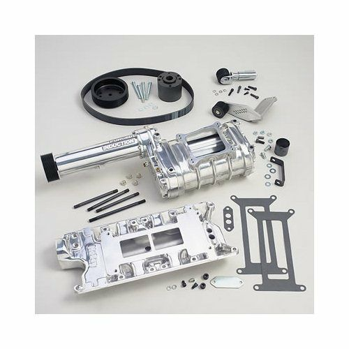 Blower Supercharger Kit For Ford 302: Weiand Supercharger System Roots 174 10 Rib Pulley