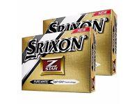 Srixon Z Star pure white Golf balls - Double dozen 24 balls.