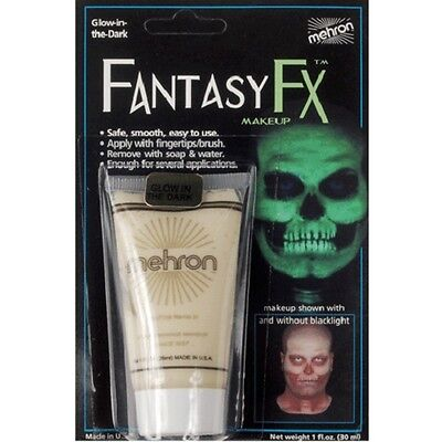 Glow in the Dark Black Light Mehron Fantasy FX Face Paint Body Blacklight Makeup - Face Painting Glow In The Dark