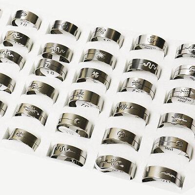 36 Stück Designer Edelstahlringe Größen sortiert - Sonderposten